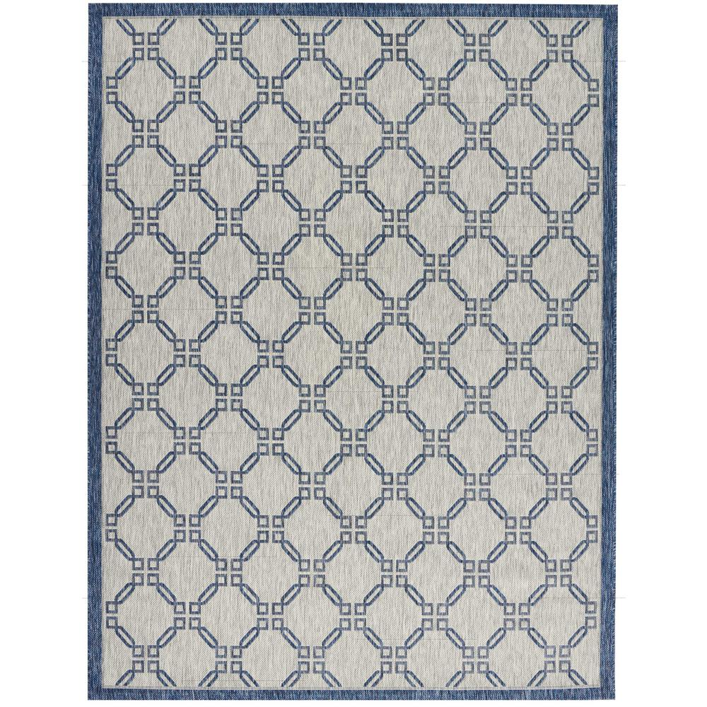 Country Side Ivory Blue 9 ft. 6 in. x 13 ft.