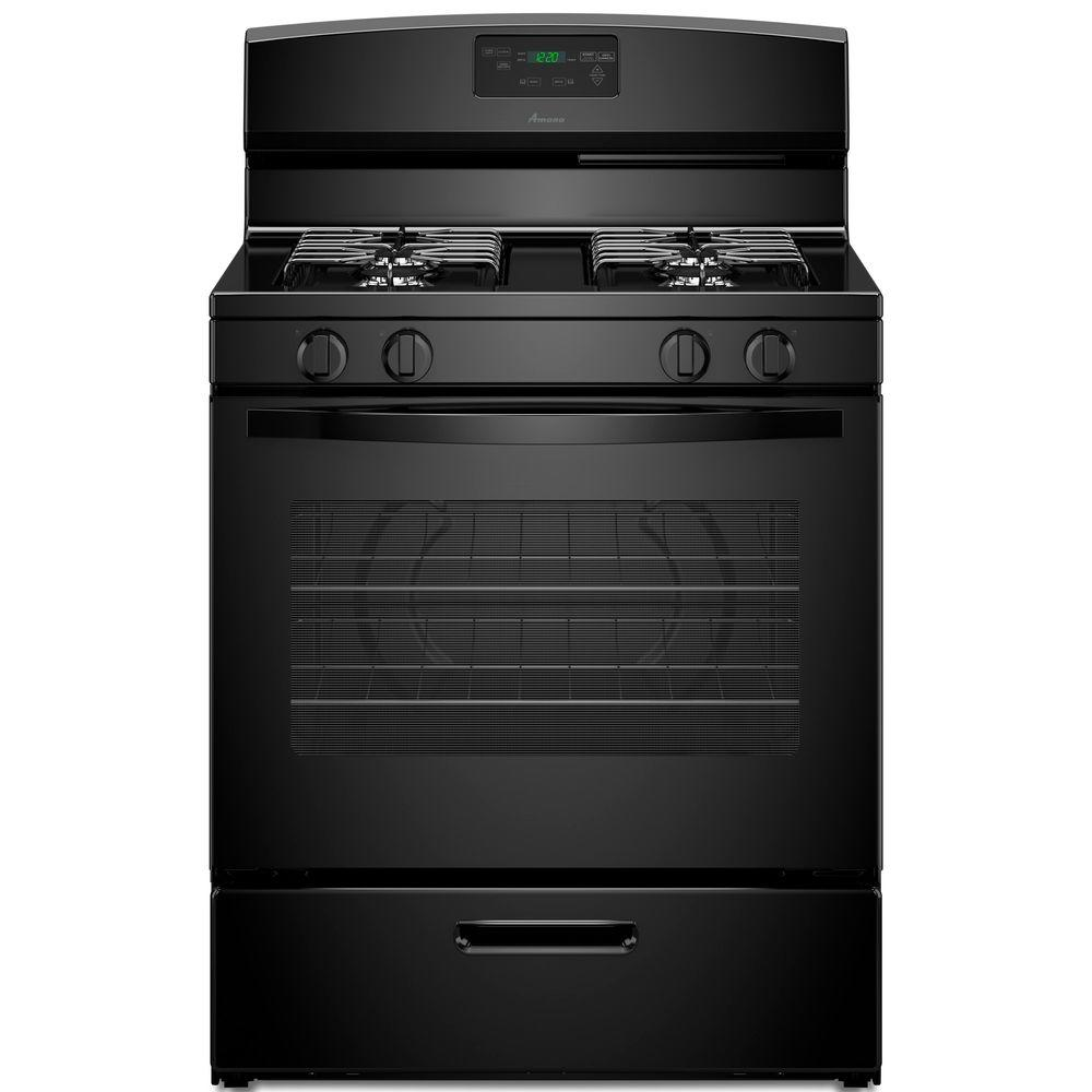 amana 5 1 cu ft gas range in black agr5330bab the home depot rh homedepot com Amana Convection Oven Problems Amana Convection Oven Problems