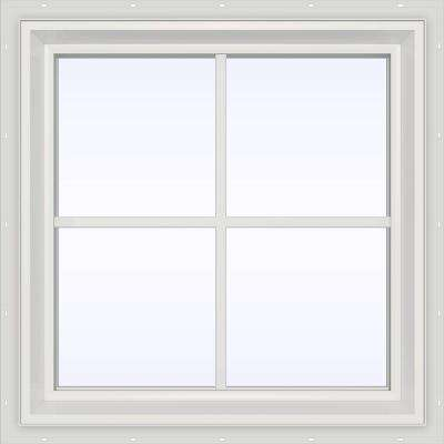 23.5 in. x 23.5 in. V-2500 Series Fixed Picture Vinyl Window with Grids - White