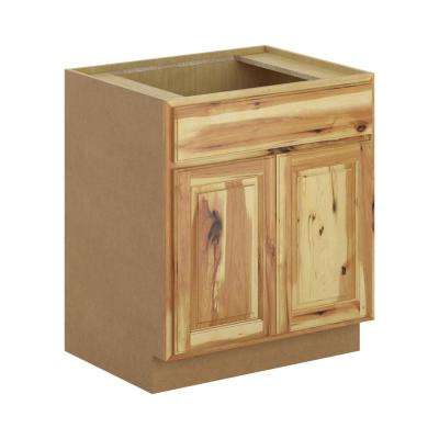 Madison Assembled 30x34.5x24 in. Sink Base Cabinet in Hickory