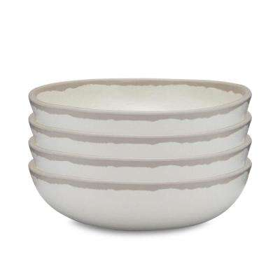 Potter 4-Piece 6.5 in. Stone Gray Melamine Bamboo Cereal Bowl Set