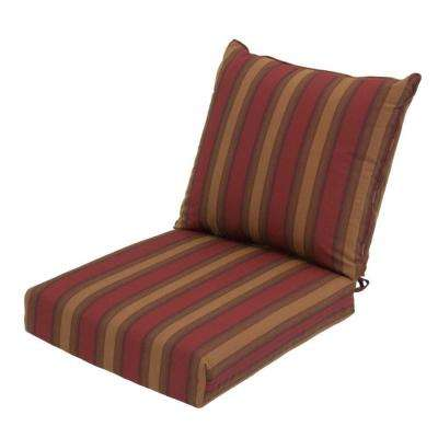 22 x 24 Outdoor Chair Cushion in Standard Red Tweed