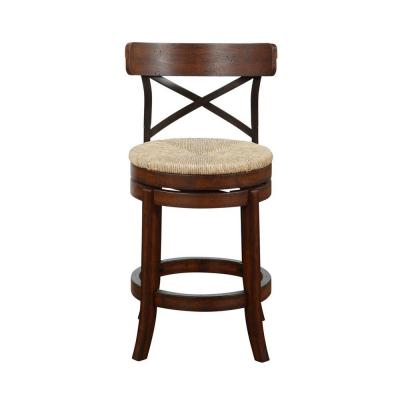 Myrtle 24 in. Counter Stool in Mahogony