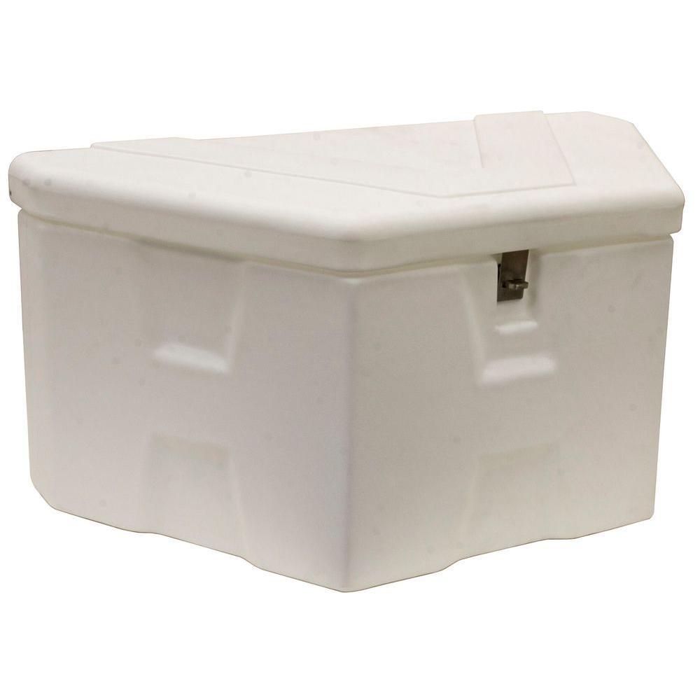 36 White Plastic  Trailer Tongue Truck Tool Box
