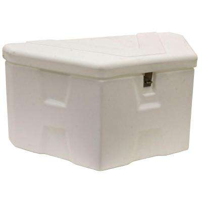 36 in. Trailer Tongue White Polymer Tool Box