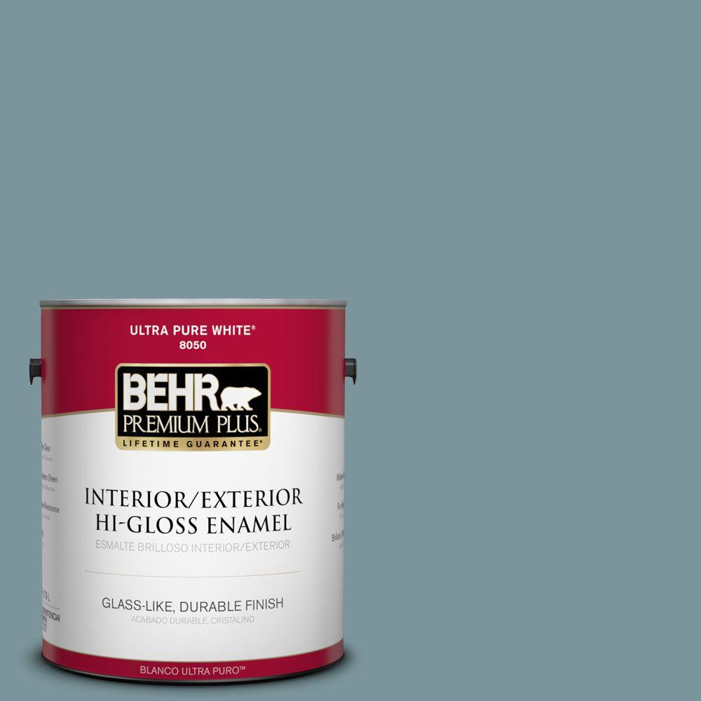 1-gal. #ECC-56-3 Lake View Hi-Gloss Enamel Interior/Exterior Paint