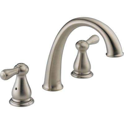 Leland 2-Handle Deck-Mount Roman Tub Faucet Trim Kit Only in Stainless (Valve Not Included)