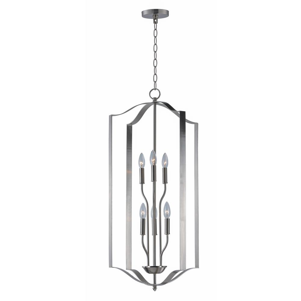 Maxim Lighting Provident 6-Light Satin Nickel Chandelier Maxim Lighting's commitment to both the residential lighting and the home building industries will assure you a product line focused on your lighting needs. With Maxim Lighting accessories you will find quality product that is well designed, well priced and readily available. Maxim has fixtures in a variety of styles and a strong presence in the energy-efficient lighting industry, Maxim Lighting is the clear choice for quality lighting.