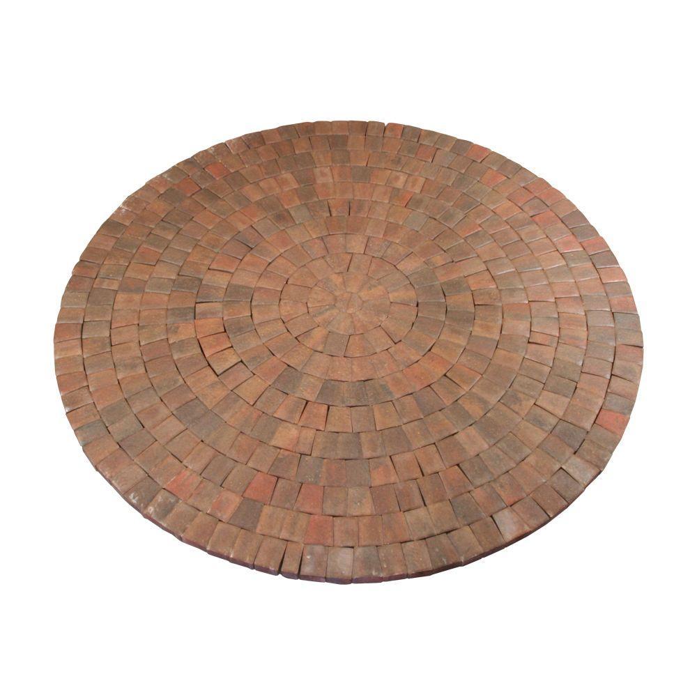 9 ft. x 9 in. Autumn Blend Dutch Cobble Concrete Paver Circle Kit