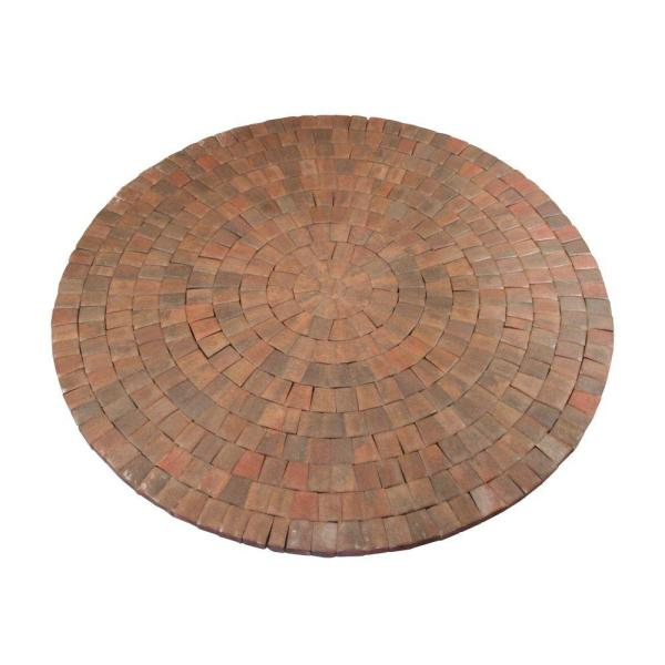 9 ft. x 9 in. Autumn Blend Dutch Cobble Concrete Paver Circle Kit