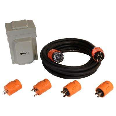 Generator Emergency Power Kit Come with L14-20 Inlet Box, Generator Cord and Multiple Adapters