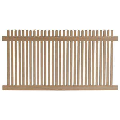 4 ft. H x 8 ft. W Cedar Grove Redwood Vinyl Picket Fence Panel
