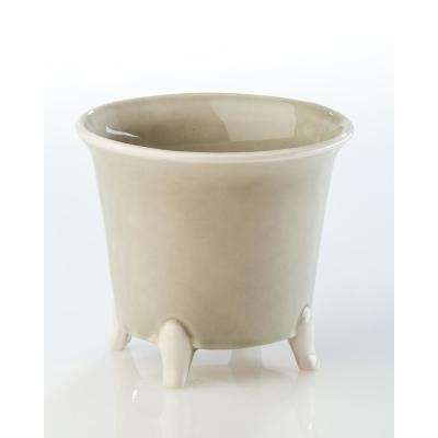 Gray Ceramic Decorative Cachepot