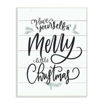 Stupell Industries 10 In X 15 In A Merry Little Christmas Black White And Blue Typography By Artist Lettered And Lined Wood Wall Art Hwp 286 Wd 10x15 The Home Depot
