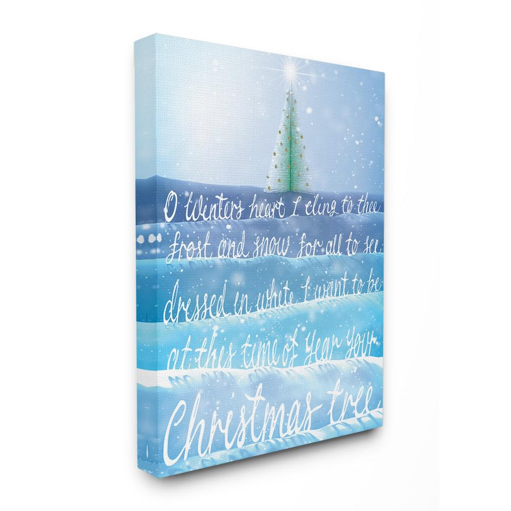 stupell industries 30 in x 40 inholiday o winters heart ombre blue