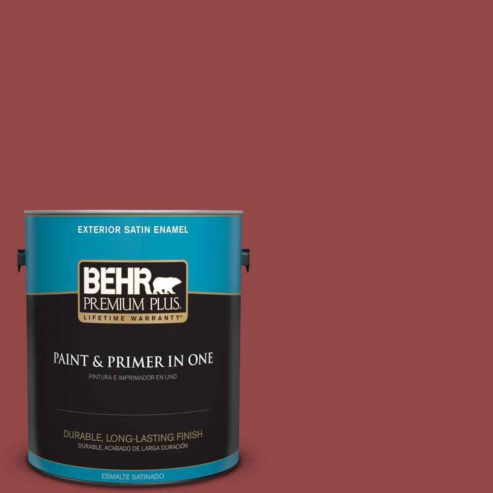 1 gal. #HDC-FL14-4 Cranberry Zing Satin Enamel Exterior Paint