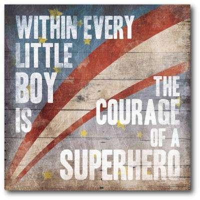 "16 in. x 16 in. ""Superhero"" Gallery Wrapped Canvas Printed Wall Art"