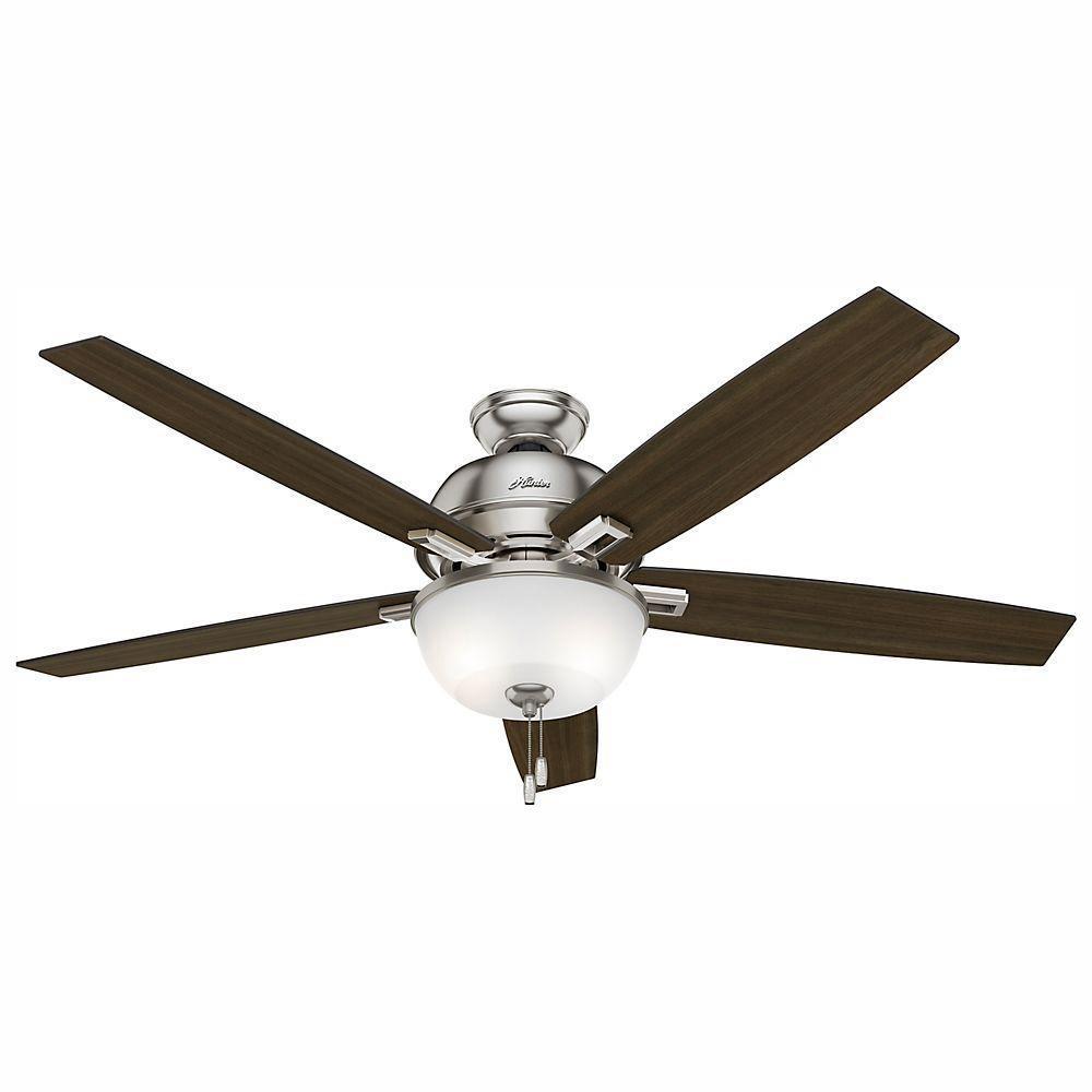 Hunter Donegan 60-in 5-Blade LED Indoor Ceiling Fan with Light Kit (Brushed Nickel)