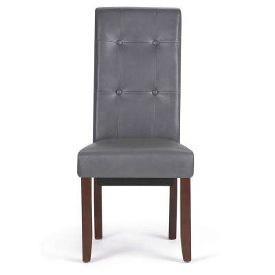 Cosmopolitan Stone Grey Deluxe Tufted Parson Chair (Set Of 2)