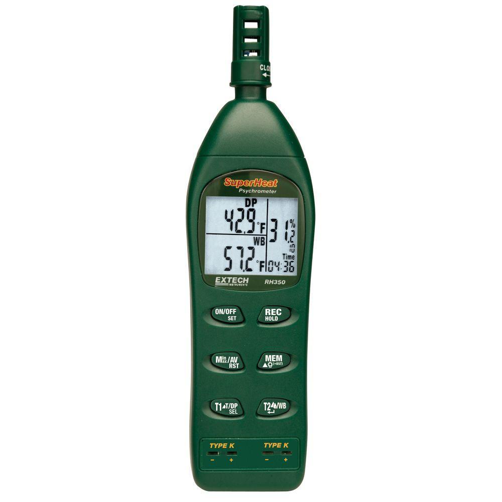 Dual Input Hygro-Thermometer Psychrometer