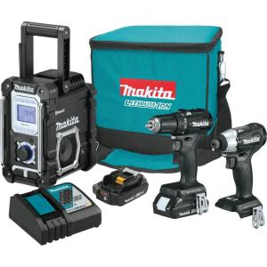 Makita 18-Volt 3-Piece 2.0Ah LXT Lithium-Ion Sub-Compact Brushless Cordless Combo Kit Driver-Drill/ Impact... by Makita