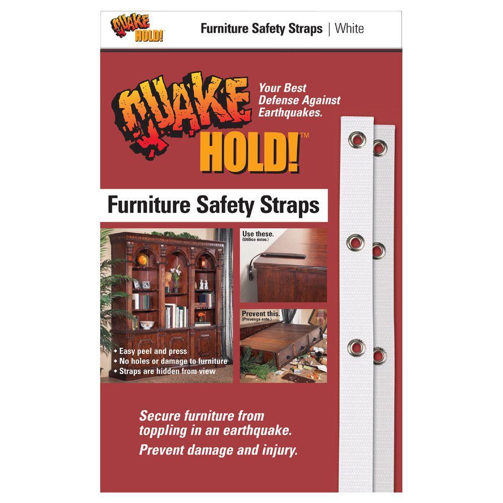 White Furniture Safety Strap 4164