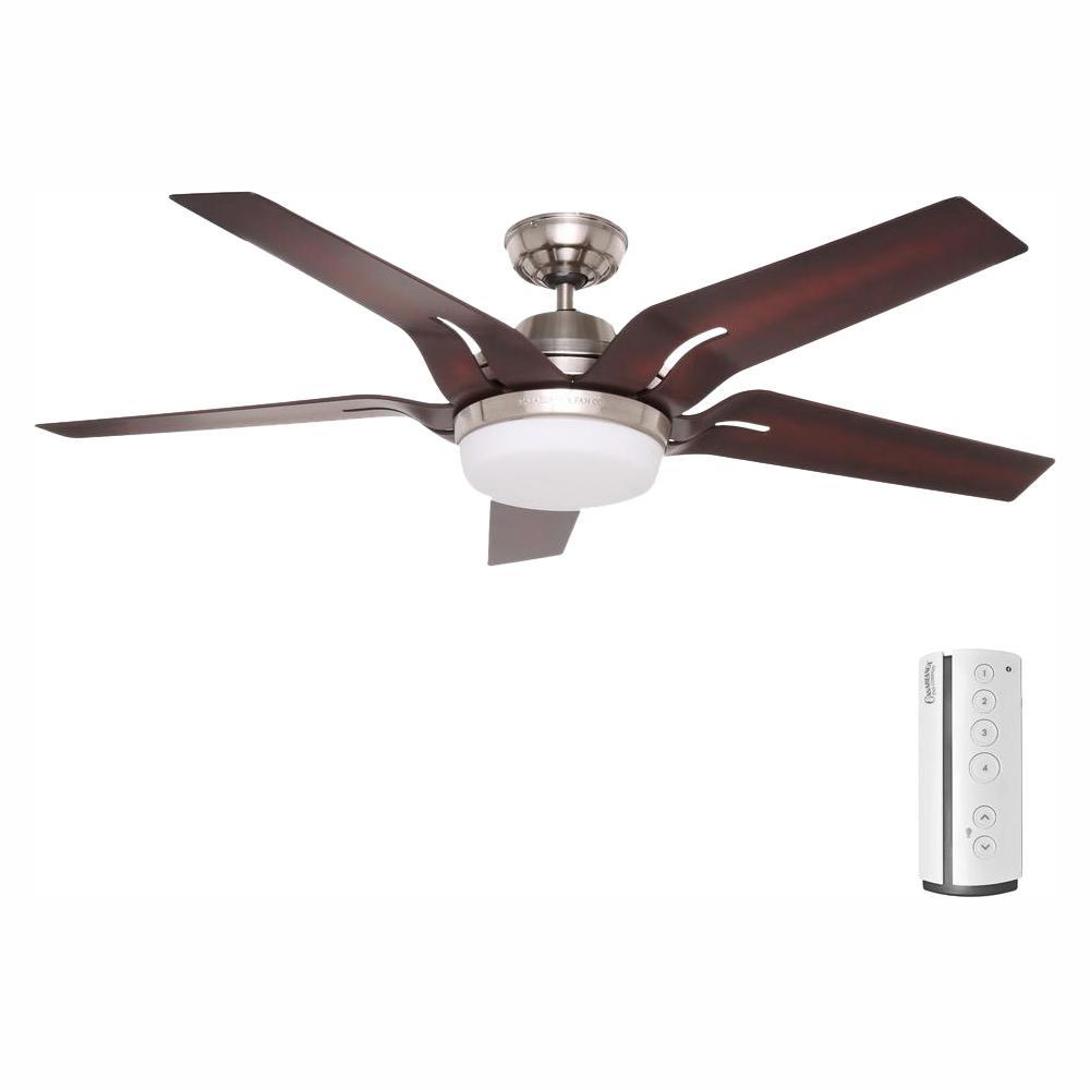 Casablanca Correne 56 in. LED Indoor Brushed Nickel Ceiling Fan