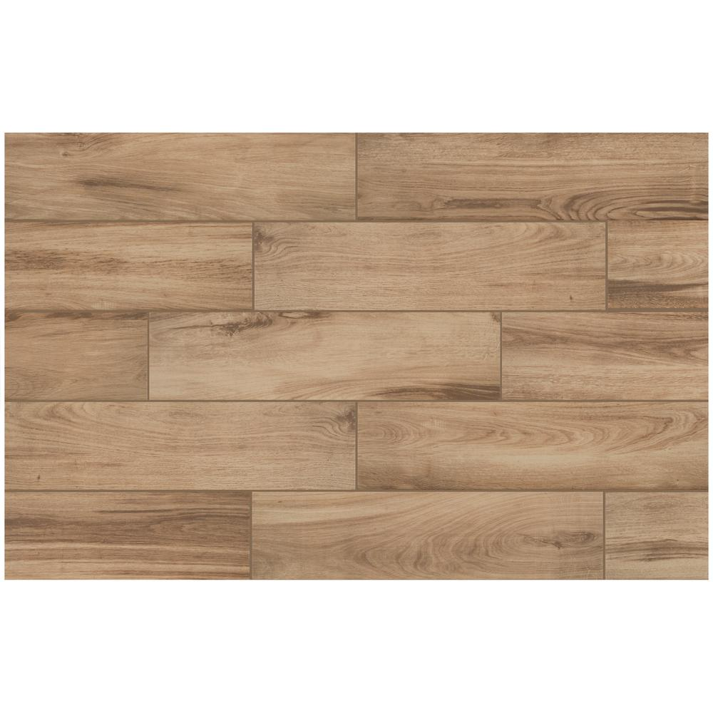 Alpine Sand 6 in. x 24 in. Porcelain Floor and Wall