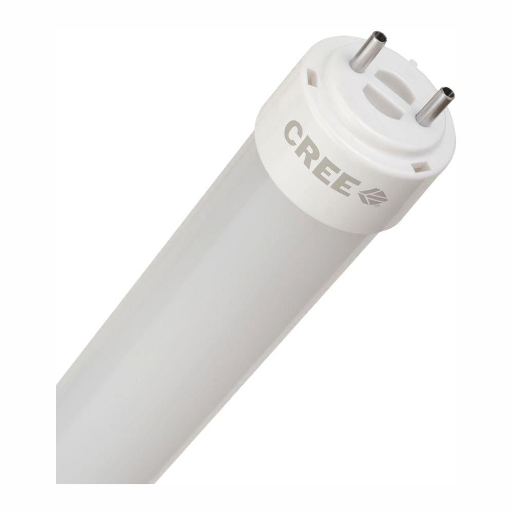 Cree Tw Series 48 In T8 32 Watt Soft White Dimmable Linear Led Light Bulb 20 Pack Bt848 17027flw Bdg13 1c110 The Home Depot