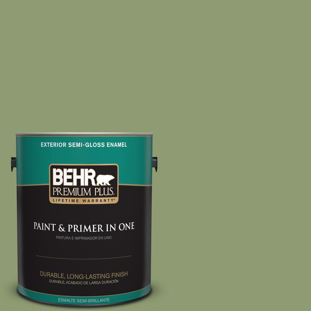 1 gal. #PPU11-04 Alamosa Green Semi-Gloss Enamel Exterior Paint