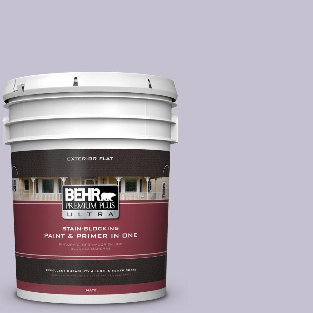 BEHR Premium Plus Ultra 5-gal. #ICC-44 Lavender Bouquet Flat Exterior Paint