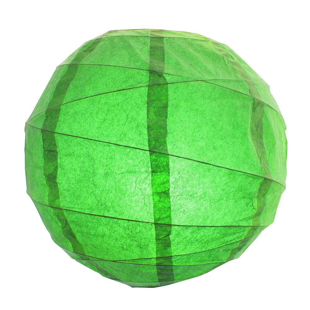 CrissCross 12 in. x 12 in. Green Round Paper Lantern (5-Pack)