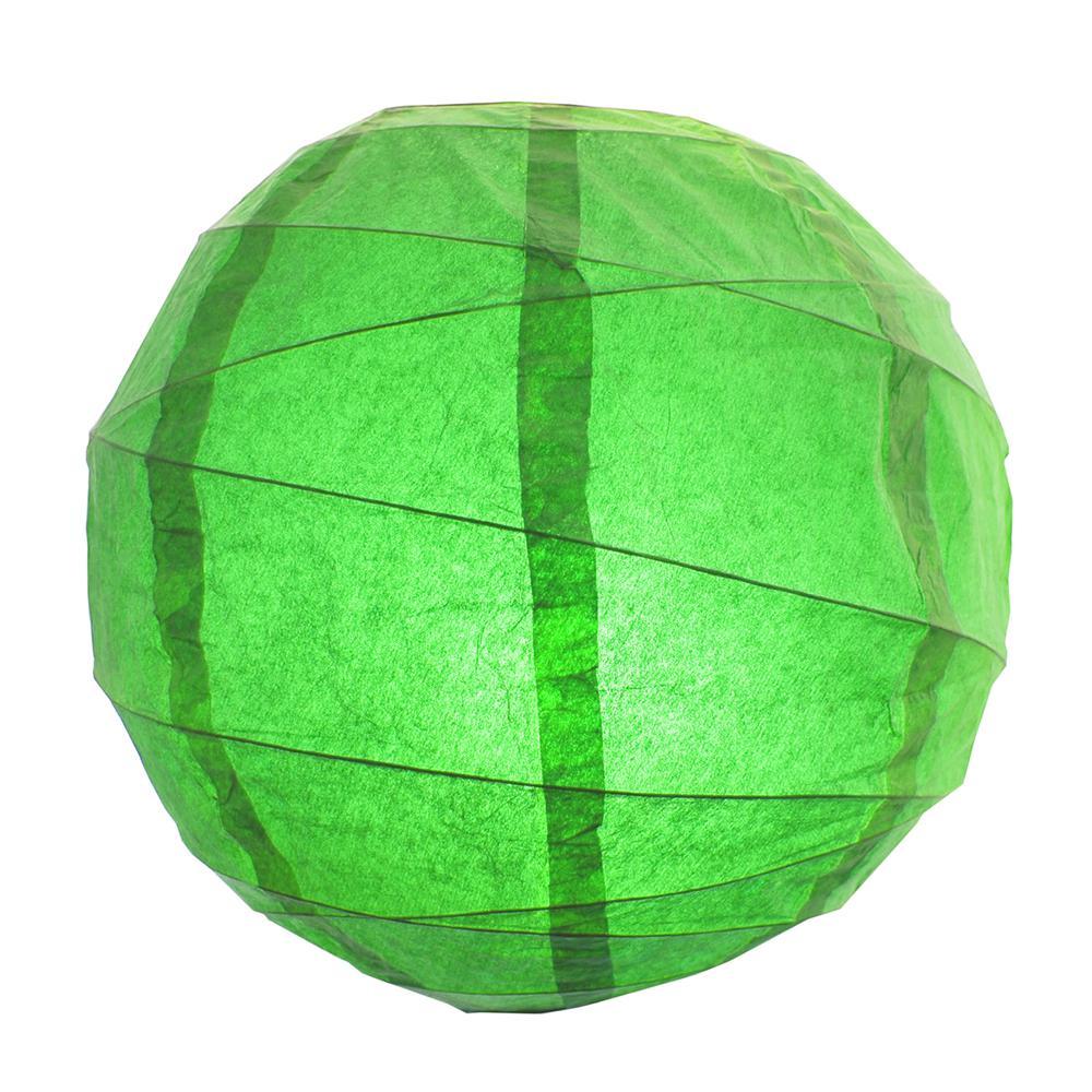 CrissCross 12 in. x 12 in. Green Round Paper Lantern (5-Pack)