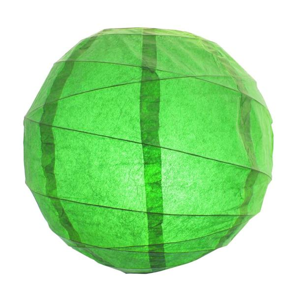 Lumabase CrissCross 12 in. x 12 in. Green Round Paper Lantern (5-Pack)