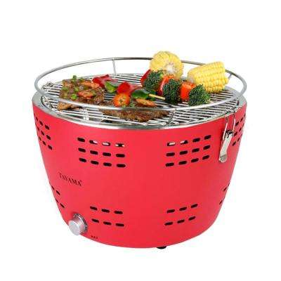 Portable Charcoal Grill in Red