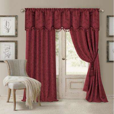 Blackout Rouge Blackout Energy Efficient Room Darkening Rod Pocket Window Curtain Drape - 52 in. W x 95 in. L