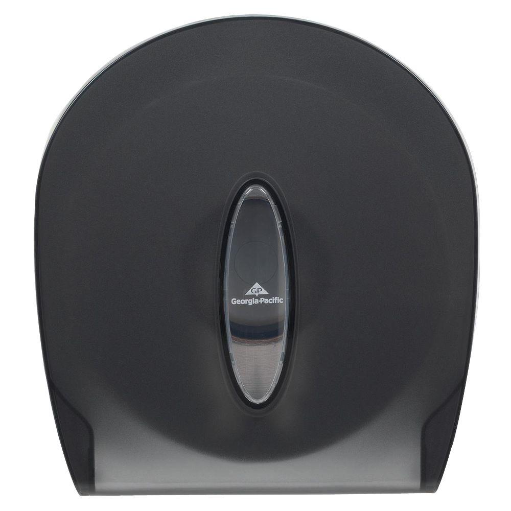Translucent Smoke Jumbo Jr. Bathroom Tissue Dispenser