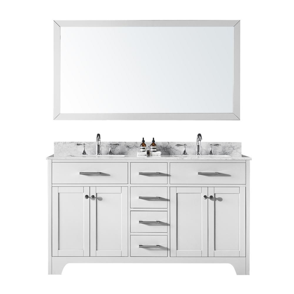 Exclusive Heritage 60 in. Double Sink Bathroom Vanity in ...