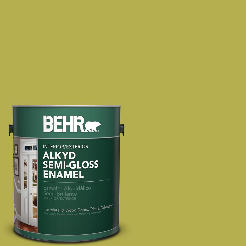 1 gal. #P350-6 Laser Semi-Gloss Enamel Alkyd Interior/Exterior Paint