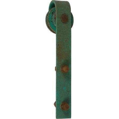 1000 Series 8 Green Patina Standard Style Rollers Barn Door Hardware Kit