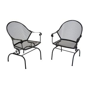 Greenlee Rocking Metal Outdoor Dining Chair (2-Pack)