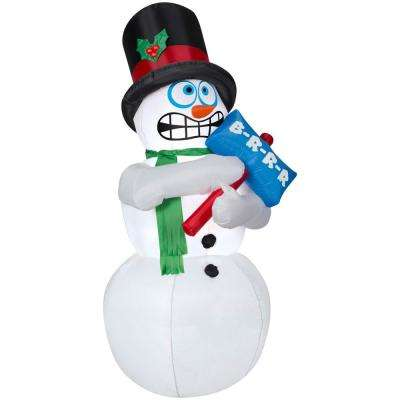 6 ft. Pre-lit Inflatable Shivering Snowman