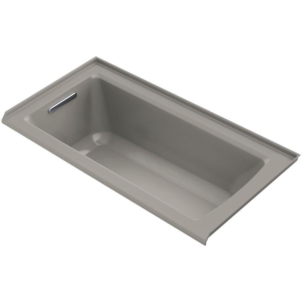 KOHLER Archer 5 ft. Left Drain Bathtub in Cashmere