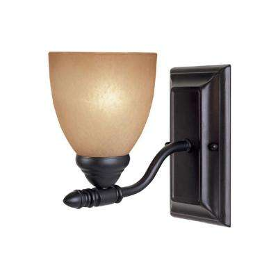 Branson Collection 1-Light Oil Rubbed Bronze Wall Mount Sconce