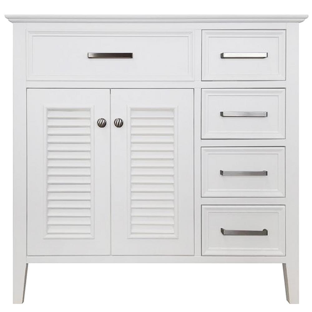 Kensington 36 in. Bath Vanity Cabinet Only in White