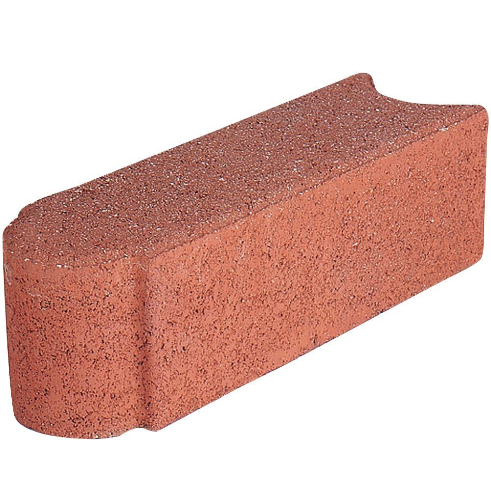 Pavestone Edgestone 12 in. x 3.5 in. x 3.5 in. River Red Concrete Edger