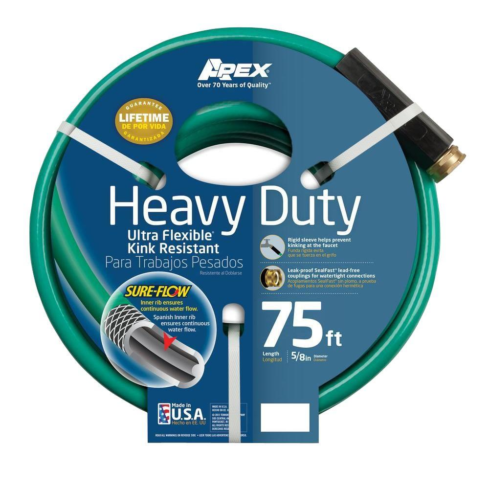 Apex 5/8 in. Dia x 75 ft. Heavy Duty Garden Hose