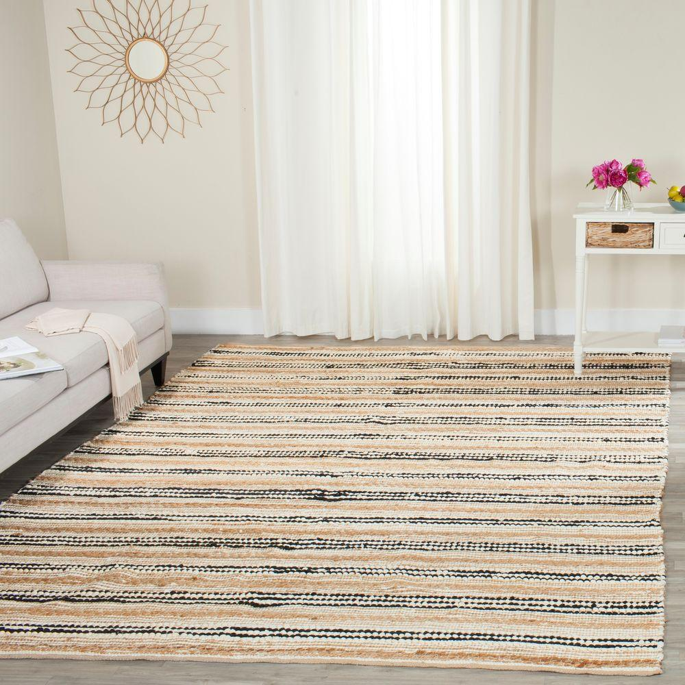 Cape Cod Natural/Black 5 ft. x 8 ft. Area Rug