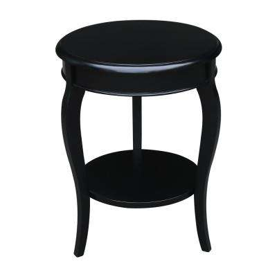 Cambria Black Round End Table