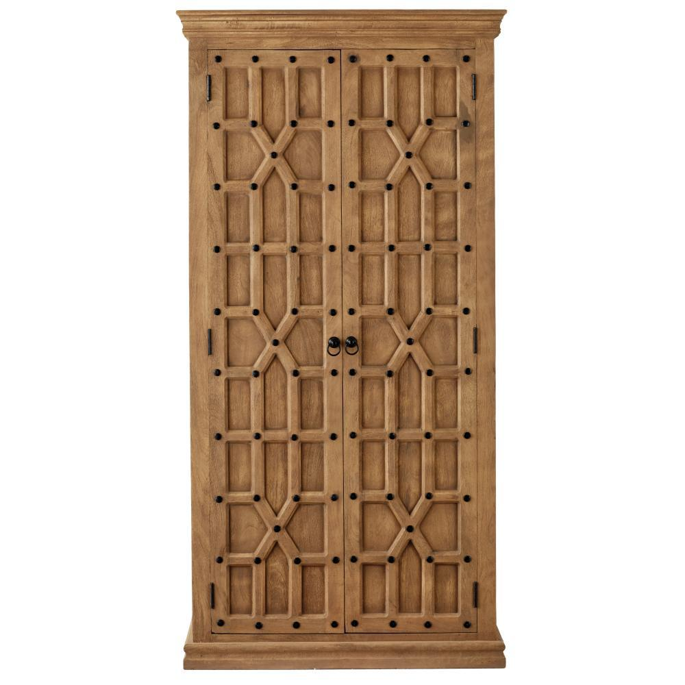 Reeves Sandblasted Natural Solid Door Bookcase